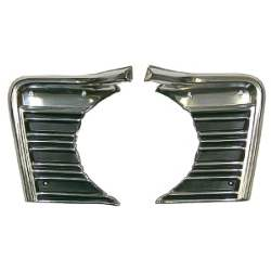 GRILLE EXTENSIONS, L/R PAIR, 67 CHEVELLE / EL CAMINO (PAINT FOR SS-396 / CONCOURS) - 4031-056-67P