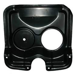 GUARD, FAN, W/ FILLER ON RH, 65 PONTIAC