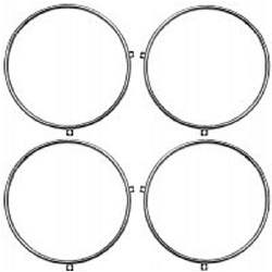 HEADLAMP RETAINING RING SET, ALL 58-66 4-HEADLAMP SYSTEMS (4-PIECE SET) - 4041-062-58S