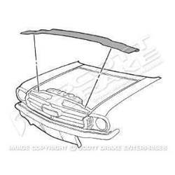 14449 1969 ford mustang radiator support to hood seal kit 64 70 mustang