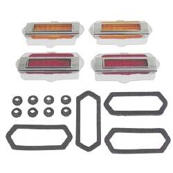 SIDE MARKER SET, 8-PIECES, 69 CAMARO (4 MARKERS, 4 BEZELS, GASKETS, AND HARDWARE) - 4020-905-69S