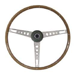 WOODGRAIN STEERING WHEEL ASSEMBLY, 67 MUSTANG - 3021-540-672S