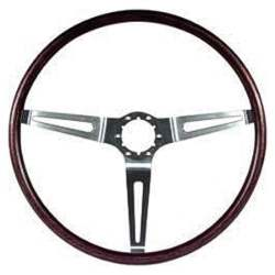 WOODGRAIN STEERING WHEEL, 69 ALL CHEVY CARS (ROSEWOOD) EXCEPT CORVETTE AND NOVA - 4020-540-691
