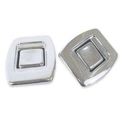SEAT BACK RELEASE BUTTON FOR BUCKET SEATS, CENTER OF SEAT BACK, 2 REQ