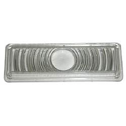 DRIVER OR PASSENGER SIDE CLEAR PLASTIC PARK LAMP LENS, 2 REQUIRED - 4140-070-47