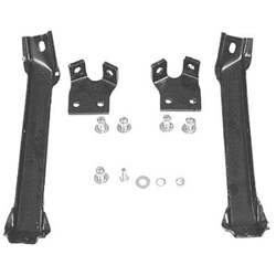 55-57 C/K BUMPER BRACKET SET, FRONT, 2ND SERIES, 4-PIECES, W/FRAME BOLTS - 4141-005-55S