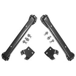 58-59 C/K/SUBURBAN BUMPER BRACKET SET, FRONT, 2ND, 4-PC W/FRAME BOLTS - 4141-005-58S