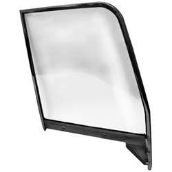 55-59 C/K TRUCK/SUBURBAN LH CLEAR DOOR GLASS ASSEMBLY WITH PAINTED FRAME - 4141-405-553L