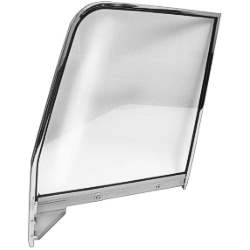 55-59 C/K TRUCK/SUBURBAN LH CLEAR DOOR GLASS ASSEMBLY WITH CHROME FRAME - 4141-405-554L