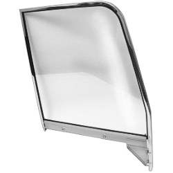 55-59 C/K TRUCK/SUBURBAN RH CLEAR DOOR GLASS ASSEMBLY WITH CHROME FRAME - 4141-405-554R