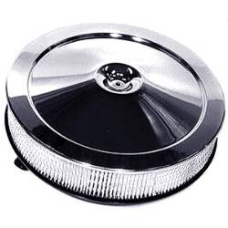 AIR CLEANER ASSEMBLY, 66-74 MOST CHEVY HP/SHP V8 MODELS, OPEN ELEM, CHROME LID W/O INST - 4031-230-664SX