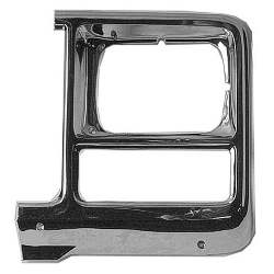 BEZEL, HEADLAMP, LH, 80 C/K TRUCK W/ SQUARE HEADLAMP CHROME FINISH (SILVERADO) - 4144-060-80L