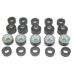 BODY MOUNT BUSHING SET, 64-67 CHEVELLE EXC. CONV / WGN / EL CAMINO / SS (10 BUSHINGS) - 4030-990-641S
