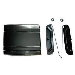 CAB MOLDING, LOWER LH, 69-72 C / K PICKUP (BLACK) (ON SIDE OF CAB) (WITH CLIPS) - 4143-580-691L