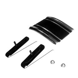 CAB MOLDING, LOWER RH, 69-72 C / K PICKUP (BLACK) (ON SIDE OF CAB) (WITH CLIPS) - 4143-580-691R