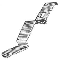 DASH PAD CLIP, OUTER, 70-72 CHEVELLE / EL CAMINO / MONTE CARLO / SPRINT (USE 2 PER CAR - 4033-522-704