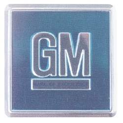 "DOOR JAMB DECAL, AQUA ""GM"" 67 ALL GM CARS (USE 2 PER CAR) - 4011-453-671"