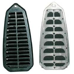 "DOOR JAMB VENT LOUVER, 68-69 ""F"" BODY, 64-67 EL CAMINO INCLUDES FLAP AND BACK - 4020-612-68"