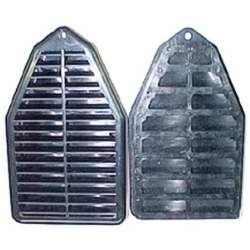 "DOOR JAMB VENT LOUVERS, 69 ""A"" LH / RH PAIR WITH CORRECT RUBBER SEALS - 4032-612-69P"
