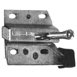 FOLD DOWN SEAT LATCH, LH, 67-70 MUSTANG FASTBACK WITH KNOB AND BUMPER - 3021-583-671L