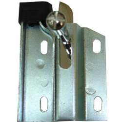 FOLD DOWN SEAT LATCH, RH, 67-70 MUSTANG FASTBACK WITH KNOB AND BUMPER - 3021-583-671R