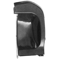 FRONT FENDER MUDCAPS, 66-67 CHEVY II, LH / RH PAIR BEHIND HEADLAMPS (PLASTIC) - 4011-063-66P